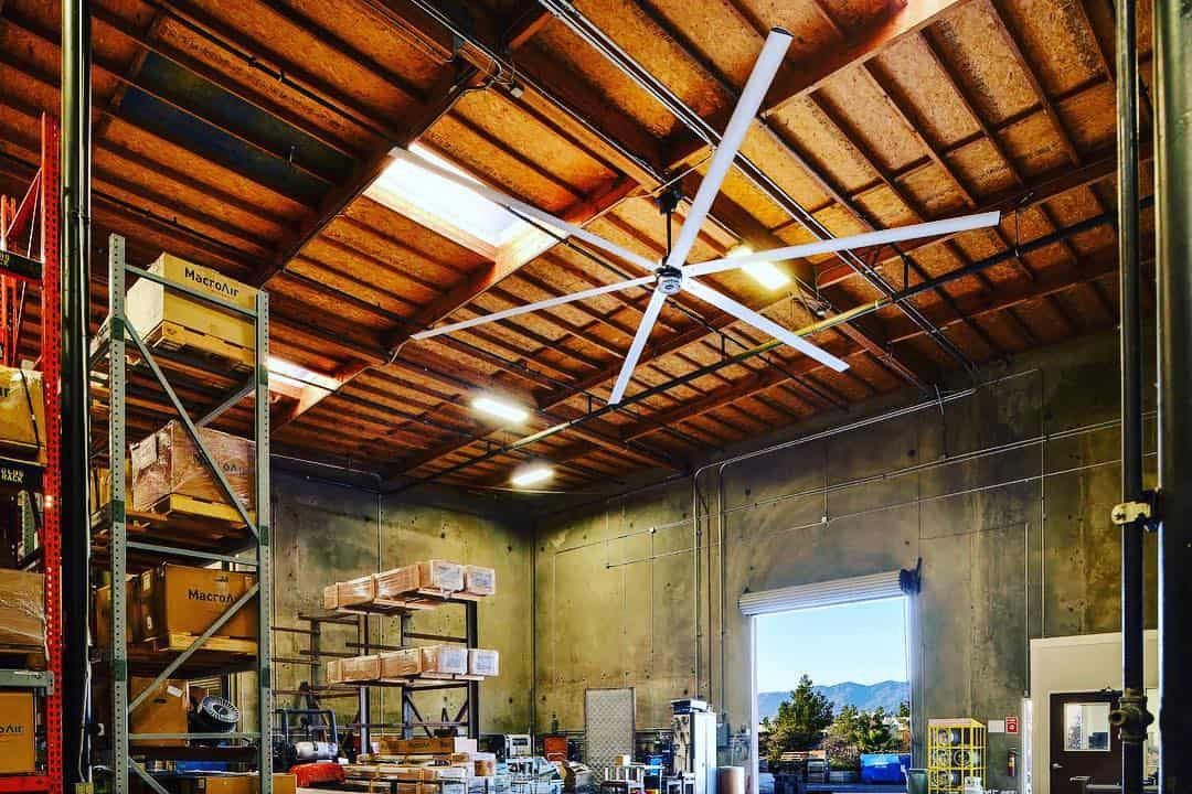 MacroAir warehouse fan installation